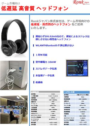 低遅延高音質ヘッドフォン